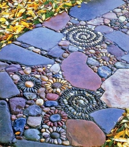 Jeffrey bale pebble mosaics seattle landscape design for Garden mosaics designs