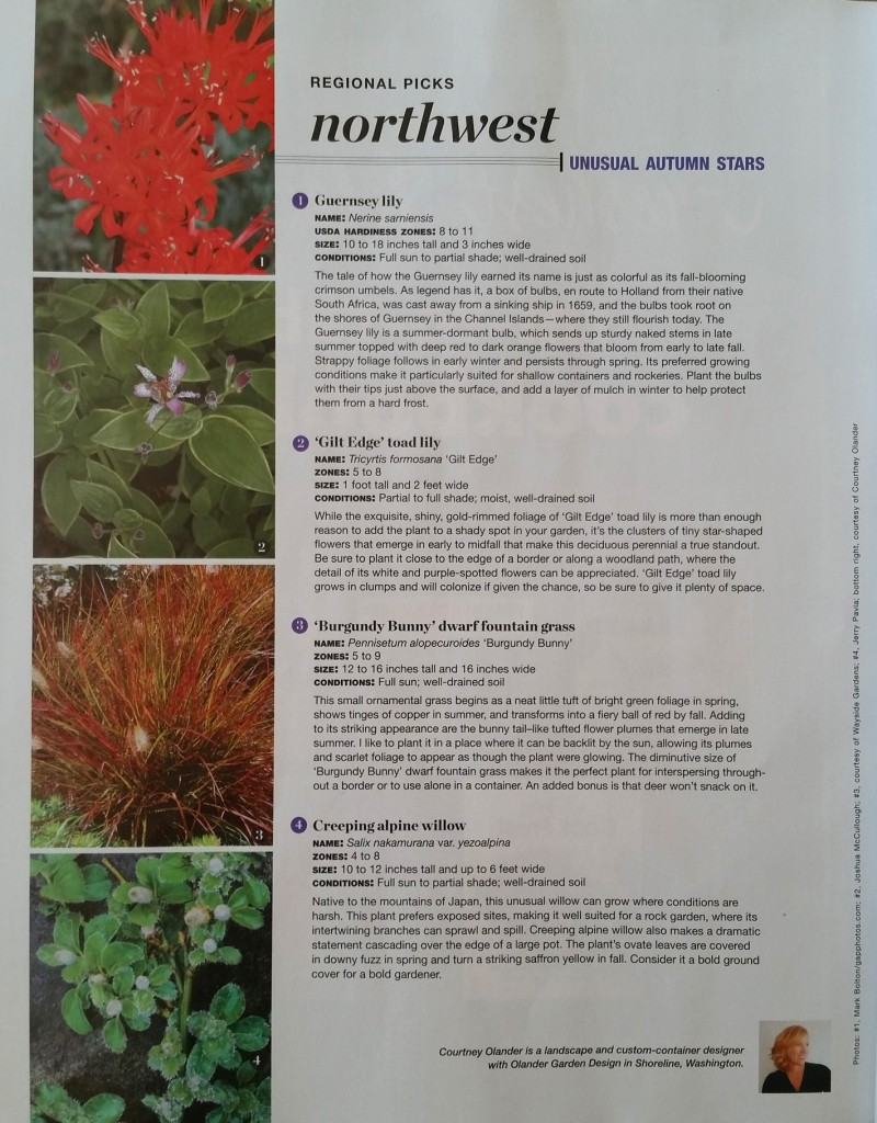 Fine Gardening Oct 2015 Regional Picks